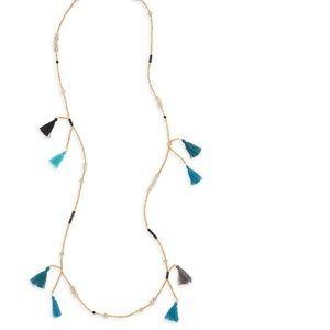 NWT Panacea Nordstom Multi Tassel Beaded Necklace